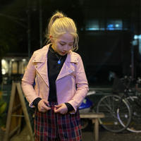 """[USED] GARDE-Nworks UKタイプ本革ライダースJKT """"PINK"""""""
