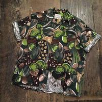 [USED] 木の実 柄 レーヨンシャツ