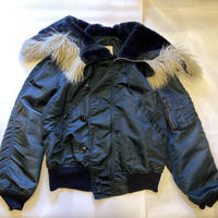 [USED]  OLD N-2B JKT made in USA.  NAVY