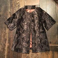 [USED] レオパード柄 fakefur short sleeve JKT