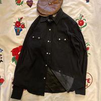 [USED] ベロア調 BLACK ウエスタンシャツ