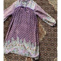 [USED]  vintage インド綿ワンピース