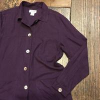 [USED]やわらか〜 purple SILK シャツ
