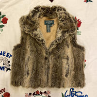 [USED] RALPH LAUREN FAUX FUR VEST♡
