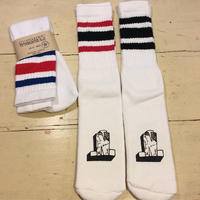 [Naughty] ロゴ入り STRIPED TUBE SOCKS