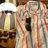 [USED]  袖丈長めのストライプ開襟シャツ