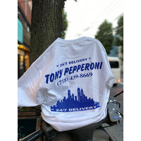 "[NEON POTATO select ]""Tony pepperoni  24/7 Delivery Tshirts """