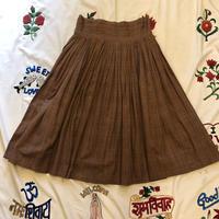 [USED]VIntageかすり柄ロングスカート