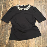 [USED] BLACK × レオパード TOPS