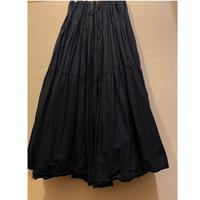 [USED] BLACK  ボリュームロングスカート