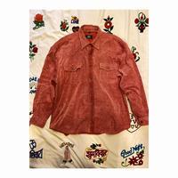 [USED] かわいいカラー♡BiGサイズコーデュロイシャツ