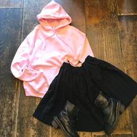 [USED] BLACKシフォンのプリーツスカート