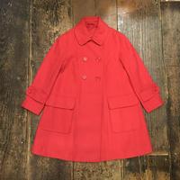 [USED] 真っ赤な Aライン ショート丈コート