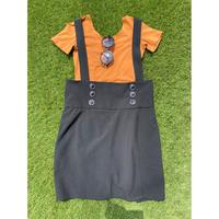 [USED] M●ckey??? BLACKジャンパースカート
