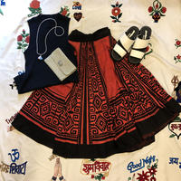 [USED] Made in MEXICOプリントフレアスカート