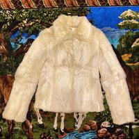 [USED] rabbit fur jacket♡