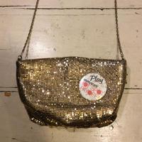 [USED] キラキラ ショルダーバッグ  ※缶バッジは別売りです!