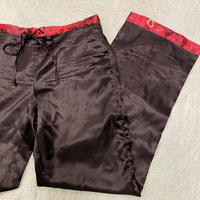 [USED] BLACK×RED サテンPANTS!