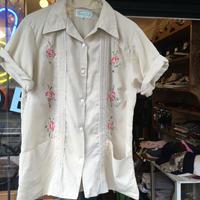 [USED] お花刺繍🌷キューバシャツ