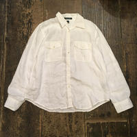[USED] LAUREN  linen100% shirt