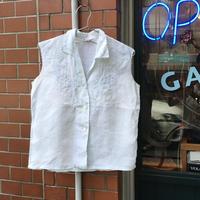 [USED] 刺繍入りリネンシャツ