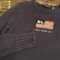 [USED]  Ralph Lauren 星条旗 ROGO ニット