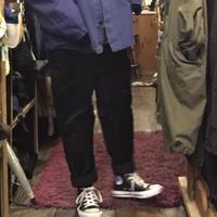 [USED] ベロア PANTS  BLACK