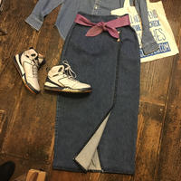 [USED] POLO  COUNTRY  Denim long wrapped skirt
