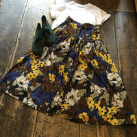[USED]ハイウエスト花柄ロングスカート