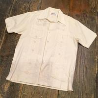 [USED]  BEIGE♡ 刺繍入りキューバシャツ