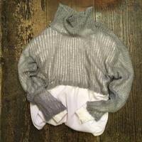 [USED] ショート丈モヘアフィッシュネットセーター