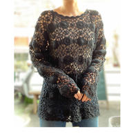 [USED] BLACKクロシェットTOPS