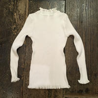[USED] White リブ TOPS