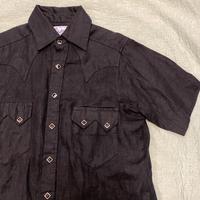 """[USED] """"Rockmount"""" リネンウエスタンシャツ(BLACK)"""