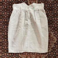 [USED] リネン タック スカート