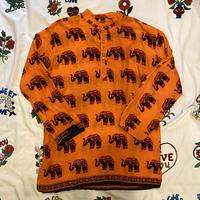 [USED] ゾウ柄アフリカンシャツ🐘🧡