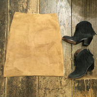 [USED] Real  Leather PACH WORK スカート
