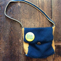 [USED] HAND MADE  KNIT BAG + OLD バッチ