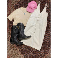 [USED]  WHITE DENIM ワンピース