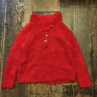 [USED]RED♡ハイネックのモヘアニット