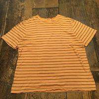 [USED] オレンジボーダーBIG TEE