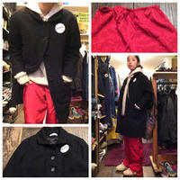 [USED] Black WOOLコート