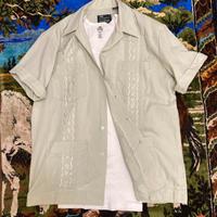 [USED] 淡いミントグリーンのキューバシャツ