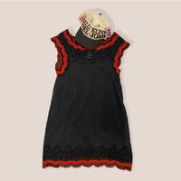 [USED] Black×Red刺繍ワンピース