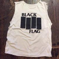 [USED] OLD  BLACK FLAG Tee CUTOFF!