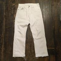 [USED]  Levis 501 WHITE cutoff Denim