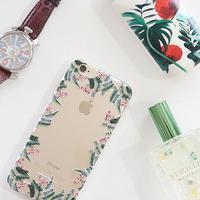透明スマホケースAICA-51 アラウンドボタニカル柄 iPhone6Plus/6sPlus