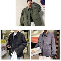 春秋オーバーサイズメンズショートジャケット M-XL