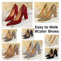 AI ゴージャス春グリッター8Color Shoes