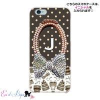 スマホケースERICA-19 Shopaholic柄×ドット① iPhone5/5s/SE/5c/6/6s/Android
